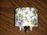 Lefton China Hand Painted Violet Chinz Ash Urn Gold Trimmed See Description 654V