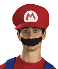 Mario Hat Deluxe Red Super Mario Brothers Dress Up Halloween Costume Accessory