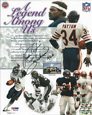 WALTER PAYTON PSA/DNA SIGNED 8X10 PHOTO WITH INSCRIPTIONS!  CERTIFIED AUTOGRAPH!