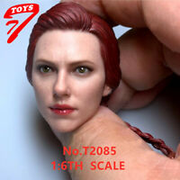 "TTTOYS 1/6 Scale Black Widow Girl Kopf Sculpt Fit 12 ""Actionfigur Körper"