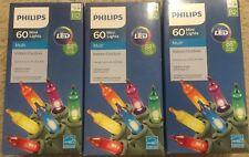 New Set of 3 - PHILIPS 60 Mini LED Lights Multi Color -Christmas/holiday