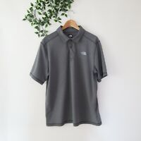 The North Face Men's FlashDry Short Sleeve Collared Polo Shirt L Large Gray