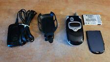 Unlocked Motorola V300 - Blue (T-Mobile) w/ original charger and belt clip