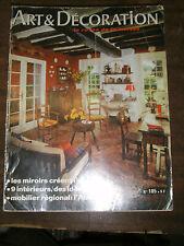 Art et Décoration N° 185 1975 Faïences de Strasbourg L'auvergnat Aquitaine