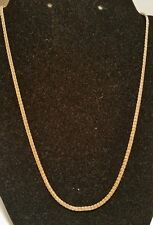 """14k yellow gold Etruscan Weave Necklace,  20""""L,  4.3 grams"""