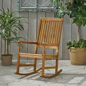 Myrna Outdoor Acacia Wood Rocking Chair