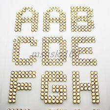 Alphabet Letters Stickers Rhinestones Self Adhesive Crystal Diamante Stick On
