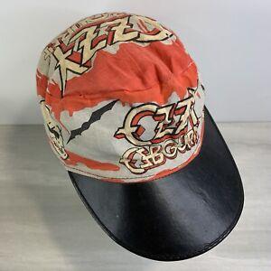 Vintage Ozzy Osbourne Painters Cap Hat **RARE** Rock N Roll Black Sabbath