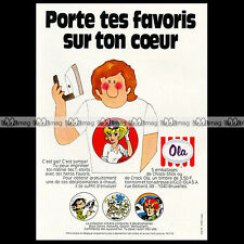 Glaces OLA Transferts T-SHIRT Natacha Gaston Marsupilami 1972 - Pub Ad #A877