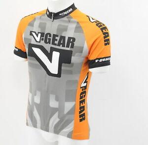 Verge V-Gear Men's Sport Cut Short Sleeve Jersey Medium Orange/Gray Brand New