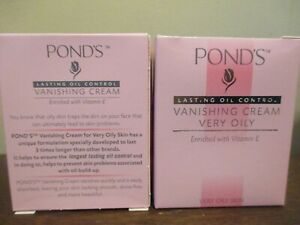 (2) POND'S Vanishing Cream Very Oily skin Face Cream 100ml (3.5 oz) Ponds