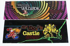 Authentic Original Video Game Marquee Bundle Mr. Do's Wild Ride Castle Universal