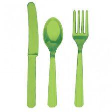 Tutto verde Amscan in plastica per la tavola per feste e party