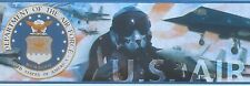 US Air Force Military Wallpaper Border, AA1035B, 12in. x 12ft., Prepasted