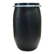 Weithalsfass 120 Liter Maischefass Regentonne Futtertonne Regenfass schwarz