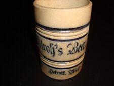 Circa 1900 Stroh's Beer Salt Glazed Mug, Detroit, Michigan
