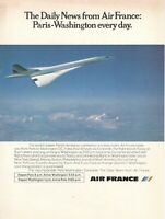 1969 Original Advertising' Air France Company Aerial Concorde Paris-Washington