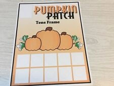 Pumpkin Patch Ten-Frames - Laminated Activity Set - Teaching Supplies
