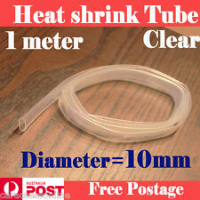 Heat Shrink tube Heatshrink tubing Sleeving Clear Diameter=10mm 1meter  AU STOCK