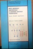 RETI NEURALI ARTIFICIALI E SISTEMI SOCIALI COMPLESSI vol. 1 di Buscema 1999