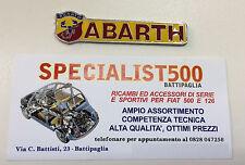 FIAT 500 F.L-R STEMMA E SCRITTA SMALTATA ABARTH