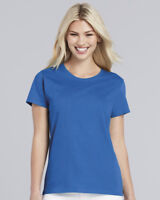 LADIES HEAVY COTTON T-SHIRT - Gildan 100% Cotton Womens Female TEE (18 Colours)