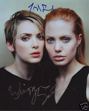 ANGELINA JOLIE & WINONA RYDER AUTOGRAPH SIGNED PP PHOTO POSTER