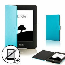 Blue Smart Case Shell Amazon Kindle Paperwhite 2015 + Screen Prot & Stylus
