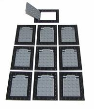 LEGO LOT OF 10 DARK BLUISH GREY BLACK TRAP DOOR CASTLE NINJA PIECES