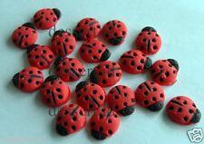 18 LADYBIRD red bug mini sugar paste edible cupcake topper icing fondant spring