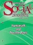 Harcourt Social Studies: Homework and Practice Book Student Edition Grade 3