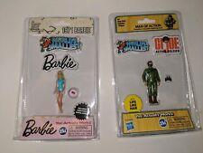 Worlds Smallest Barbie Series 1 - 1971 Barbie and  GI Joe  (1 Barbie and 1 GI)