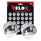 Retro Pair of Velox Chrome Style Handlebar End Plugs, Bungs, Caps L'Eroica