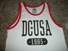 b58bca37d7ef0 DC Shoes Mens Sleeveless Tank Top Shirt White Red USA Medium Large XL  Regular L