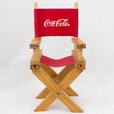 RARE! Coca-Cola Miniature Folding Chair Figure 1998