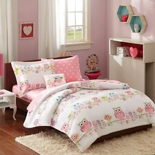 Mi-Zone Kids Wise Wendy Complete Bed and Sheet Bedding Set, Twin Pink MZK10-085