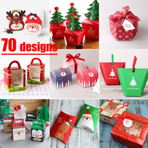 5-50X Christmas Animal Apple Party Paper Favour Gift Cupcake Lunch Carrier Boxes