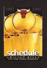 Chicago Bulls--1997-98 Pocket Schedule--SportMart
