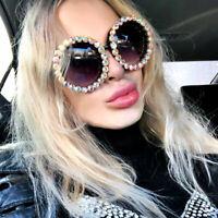 Luxury Rhinestone Round Sunglasses Women Fashion Outdoor Oversized Shades UV400