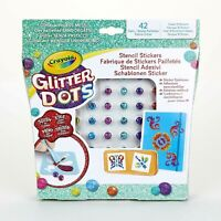 CRAYOLA – GLITTER DOT – STENCIL STICKERS - FAST & FREE DELIVERY