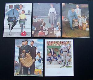 Norman Rockwell Set of 5 size 11x14 Art Prints  (quality New Prints)