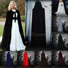 Adult Kids Medieval Hooded Cloak Wicca Long Halloween Witchcraft Capes O4X4