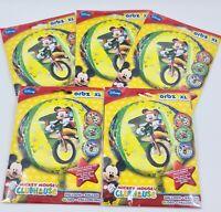 "5 x 16"" Mickey Mouse Club Happy Birthday Foil Helium Party Balloon job lot ORBZ"
