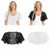S-3XL Women's Chiffon Bridesmaid Bolero/Shrug Bridal Formal Top Cardigan Jackets