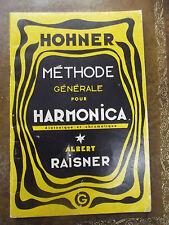 Hohner Méthode général pour Harmonica diatonique et chromatique A Raisner