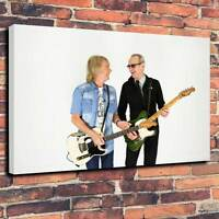 "Status Quo Printed Canvas A1.30""x20""~Deep 30mm Frame Rock and Roll Heavy Rock V5"