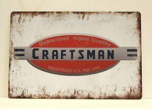 Craftsman Tools Tin Poster Sign Rustic Style Man Cave Garage Hardware Store