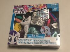 "My Little Pony the Movie 6"" Rarity Glitter Designs Set - Tails Pens Stickers"