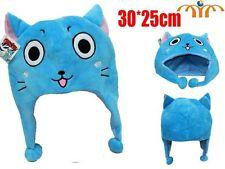 Bonnet peluche Happy chat cat Fairy queue bleu chapeau AVEC ORDONNANCE