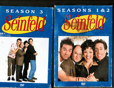 SEINFELD: COMPLETE sesasons #1-2+ #3 (2 separate box-sets =8 DVD's) AS A LOT! $1